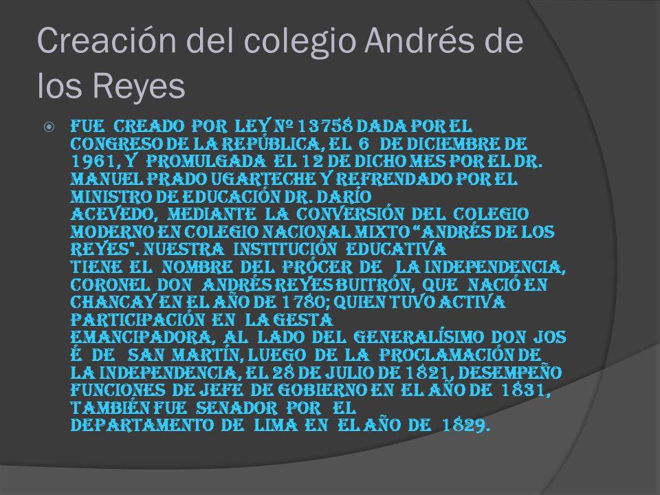 Creación del colegio Andrés de los Reyes