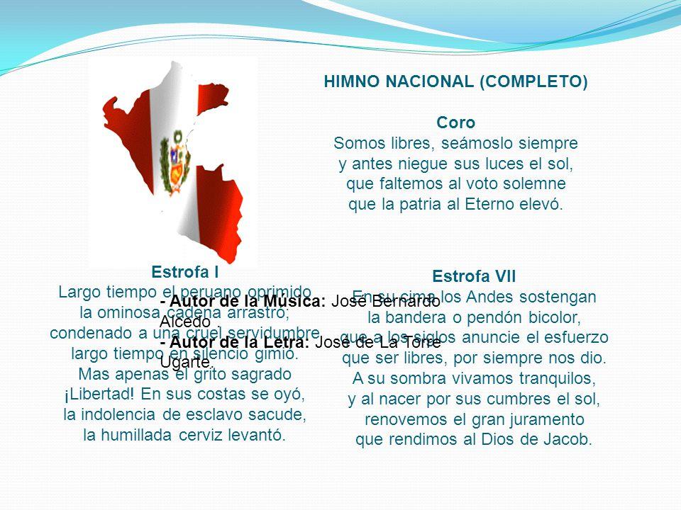 HIMNO NACIONAL (COMPLETO)