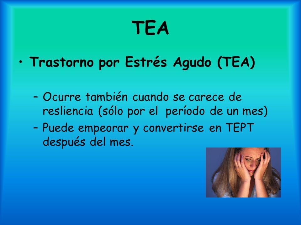 TEA Trastorno por Estrés Agudo (TEA)