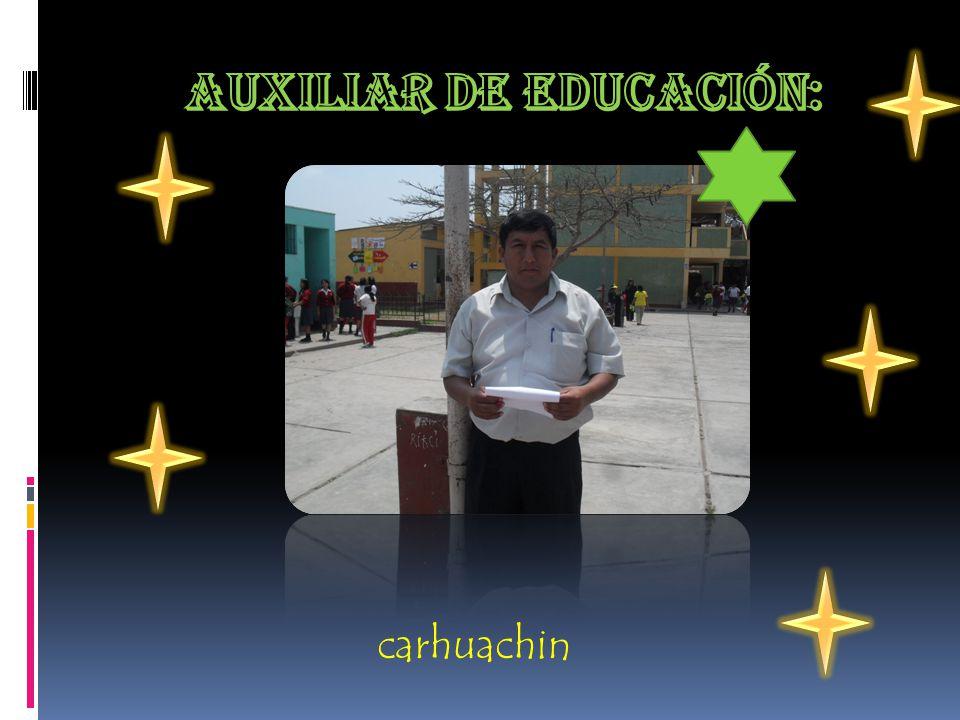 Auxiliar de educación: