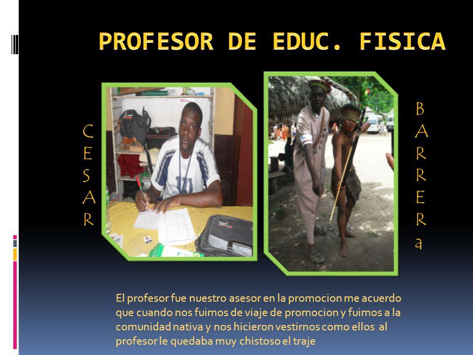 PROFESOR DE EDUC. FISICA