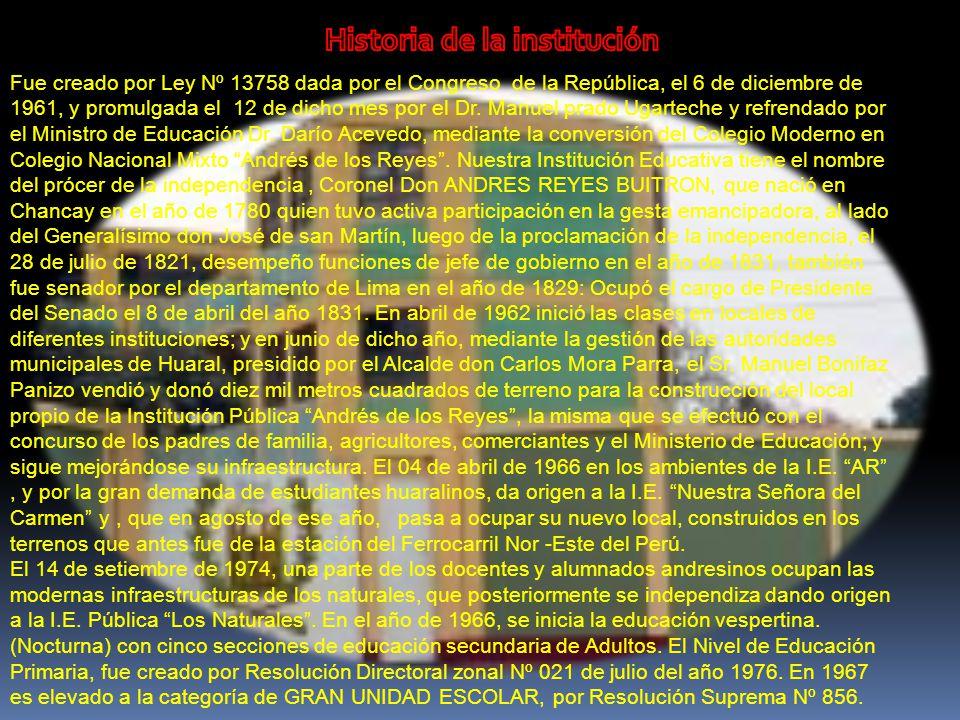 Historia de la institución