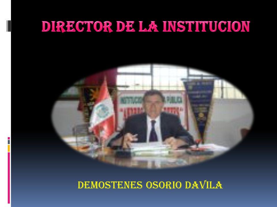 DIRECTOR DE LA INSTITUCION