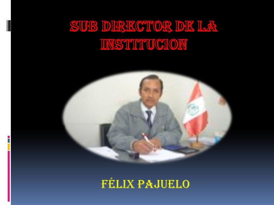 SUB DIRECTOR DE LA INSTITUCION