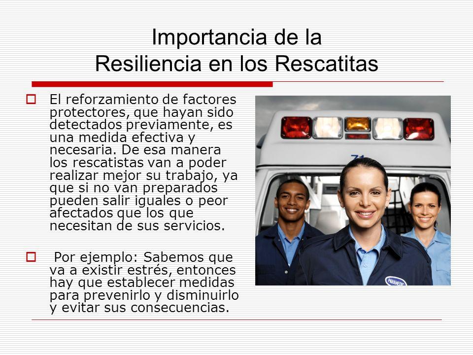 Importancia de la Resiliencia en los Rescatitas