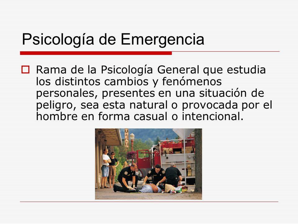Psicología de Emergencia