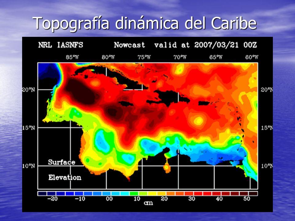 Topografía dinámica del Caribe