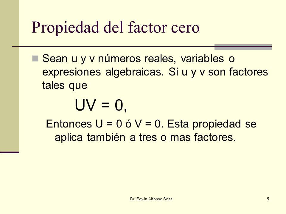 Propiedad del factor cero