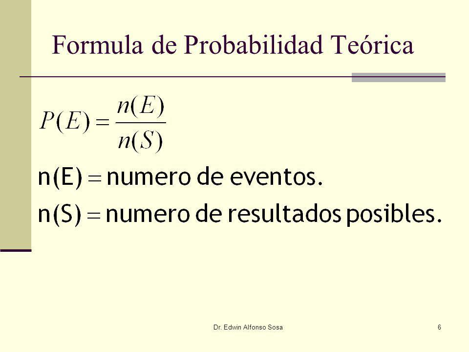 Formula de Probabilidad Teórica