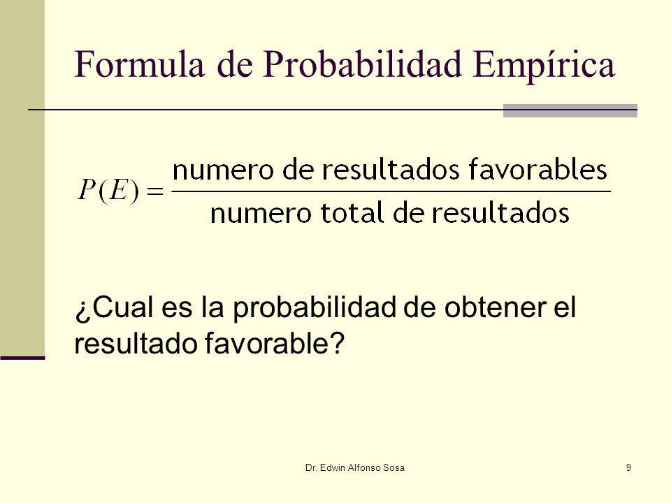 Formula de Probabilidad Empírica