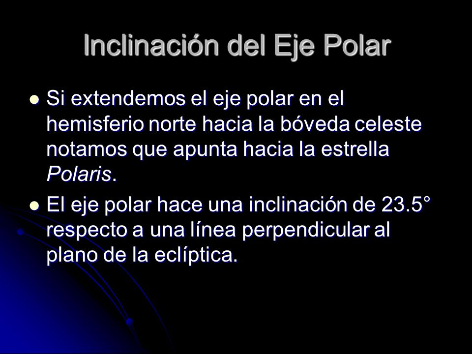 Inclinación del Eje Polar