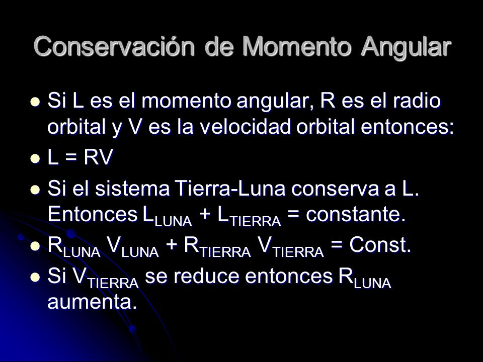 Conservación de Momento Angular
