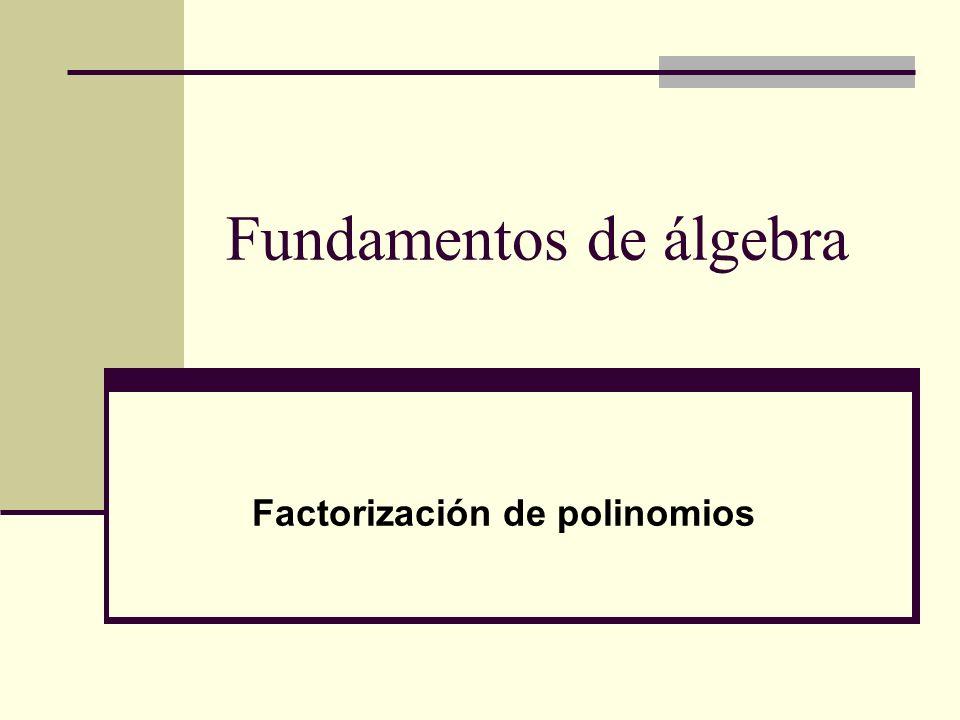 Fundamentos de álgebra