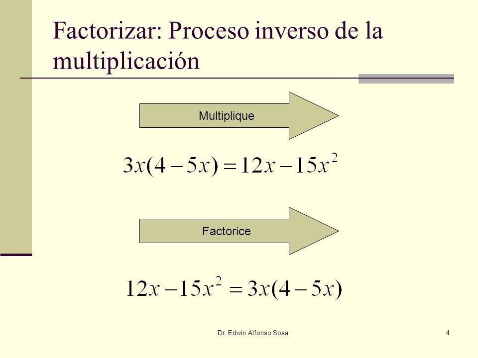Factorizar: Proceso inverso de la multiplicación