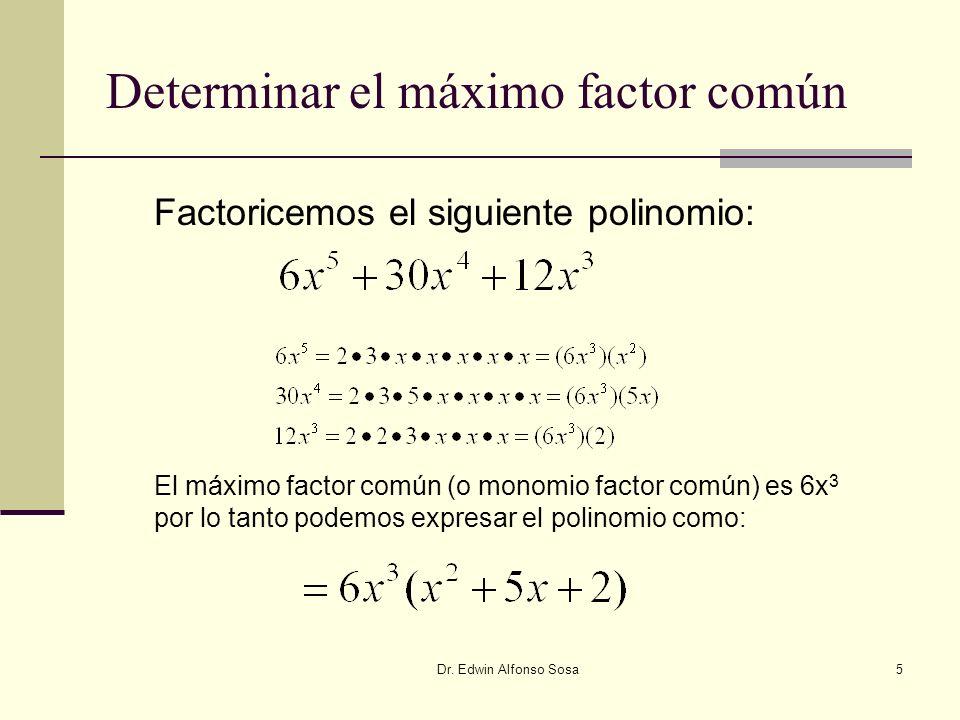 Determinar el máximo factor común