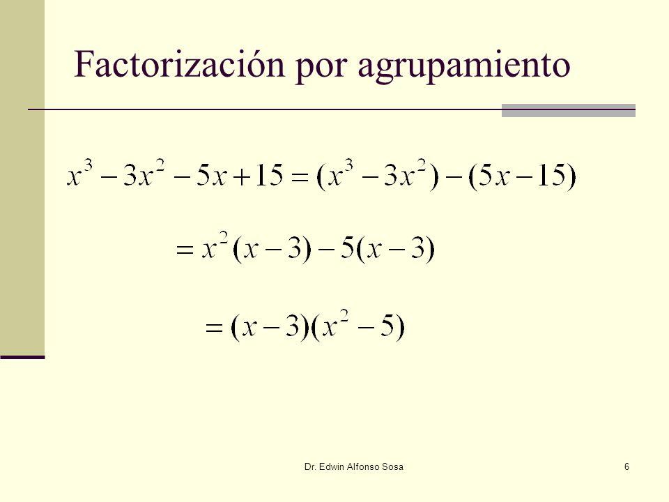 Factorización por agrupamiento
