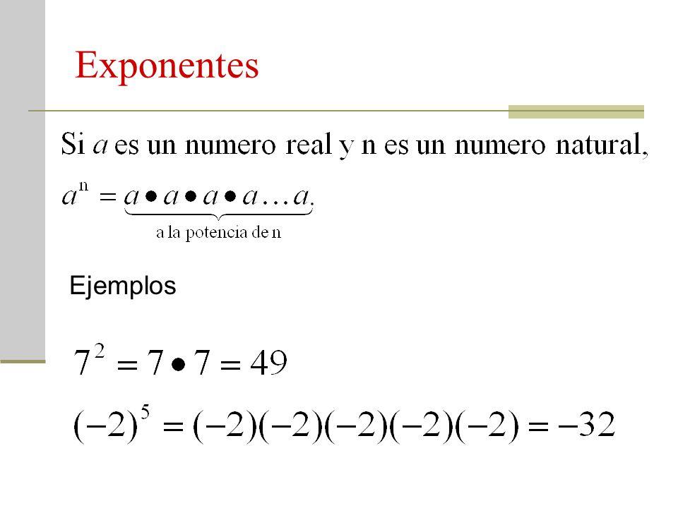 Exponentes Ejemplos