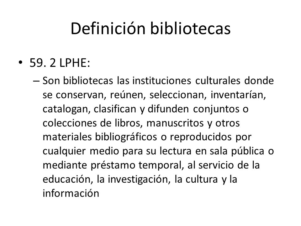 Definición bibliotecas