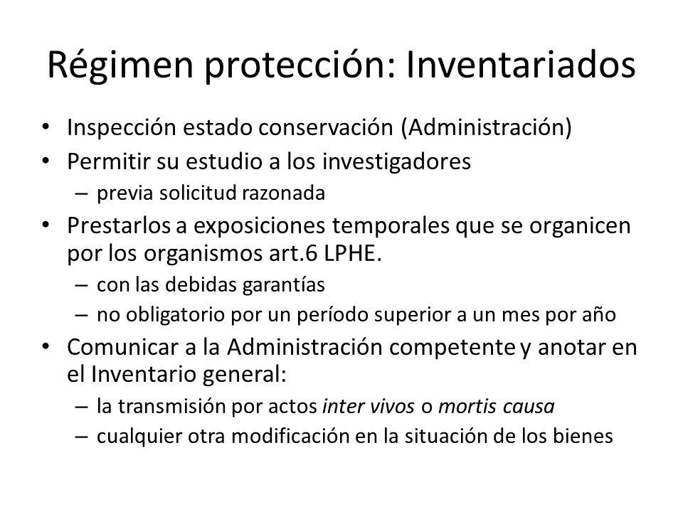 Régimen protección: Inventariados