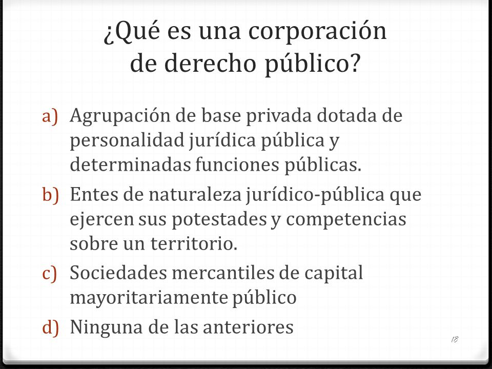 ¿Qué es una corporación de derecho público