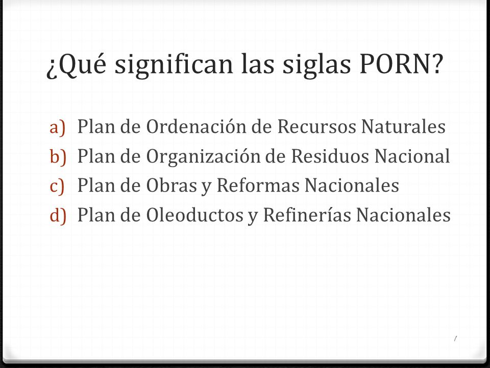 ¿Qué significan las siglas PORN
