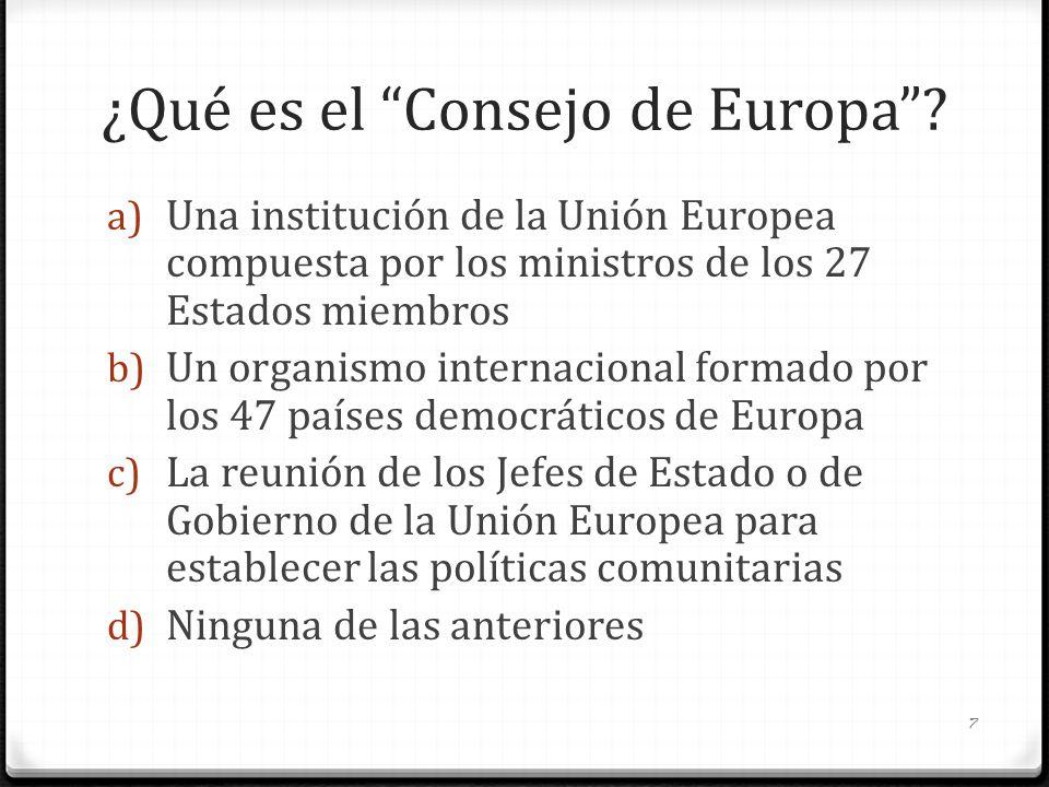 ¿Qué es el Consejo de Europa