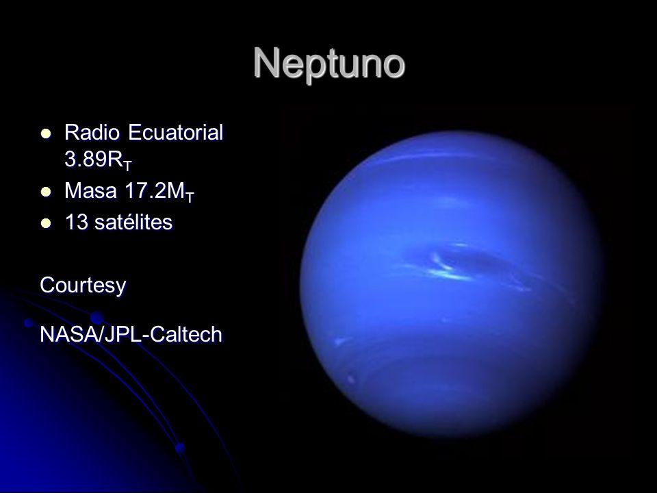 Neptuno Radio Ecuatorial 3.89RT Masa 17.2MT 13 satélites Courtesy