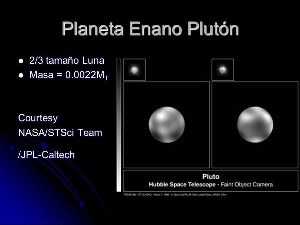 Planeta Enano Plutón 2/3 tamaño Luna Masa = 0.0022MT Courtesy