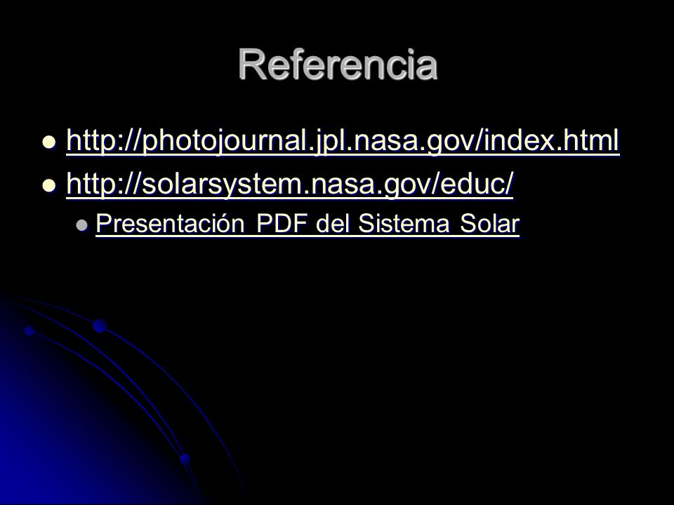 Referencia http://photojournal.jpl.nasa.gov/index.html