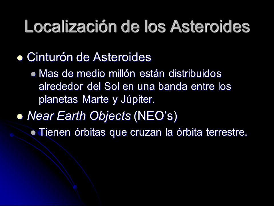 Localización de los Asteroides