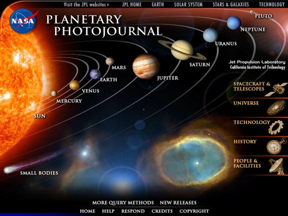 Mosaico de los cuerpos celestes que componen el Sistema Solar