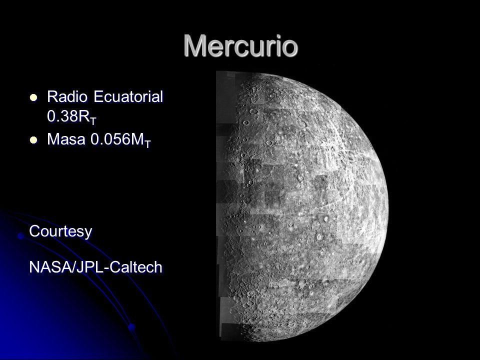 Mercurio Radio Ecuatorial 0.38RT Masa 0.056MT Courtesy