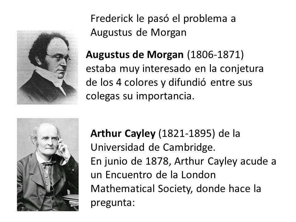 Frederick le pasó el problema a Augustus de Morgan