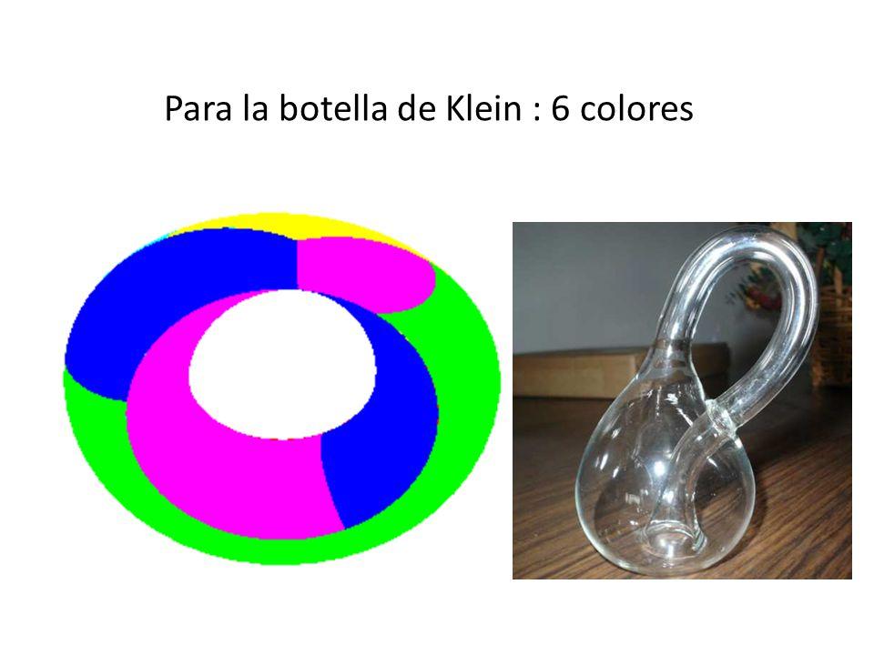 Para la botella de Klein : 6 colores