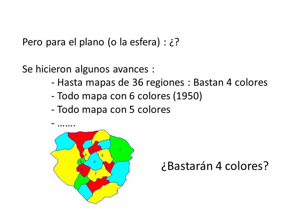 ¿Bastarán 4 colores Pero para el plano (o la esfera) : ¿