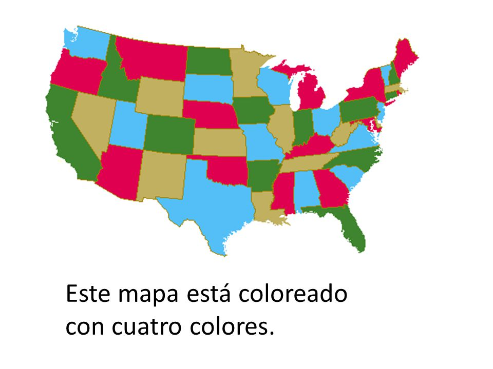 Este mapa está coloreado