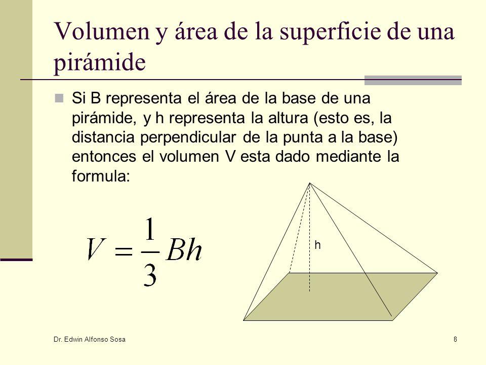 Volumen y área de la superficie de una pirámide