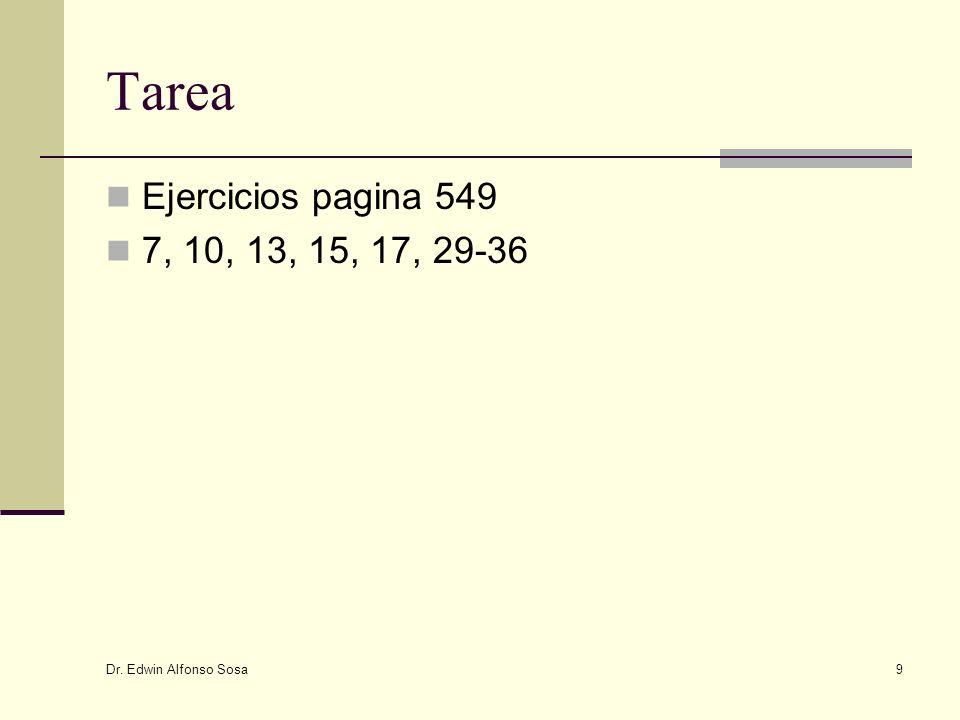 Tarea Ejercicios pagina 549 7, 10, 13, 15, 17, 29-36