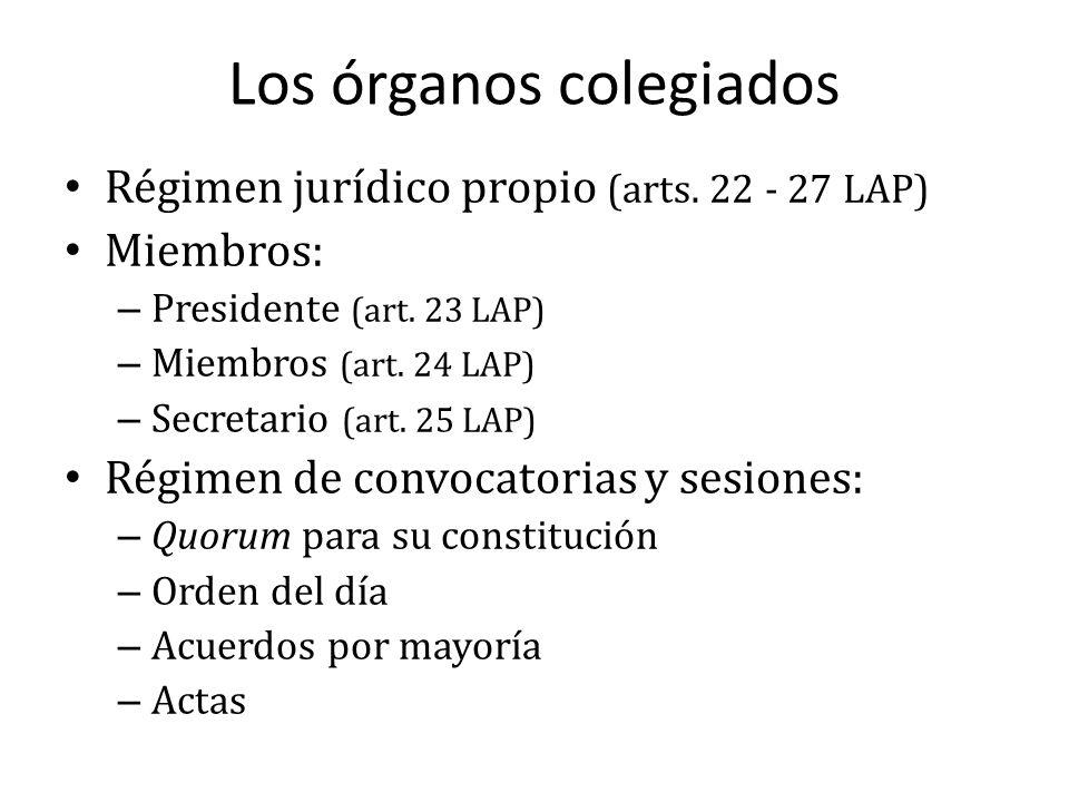 Los órganos colegiados