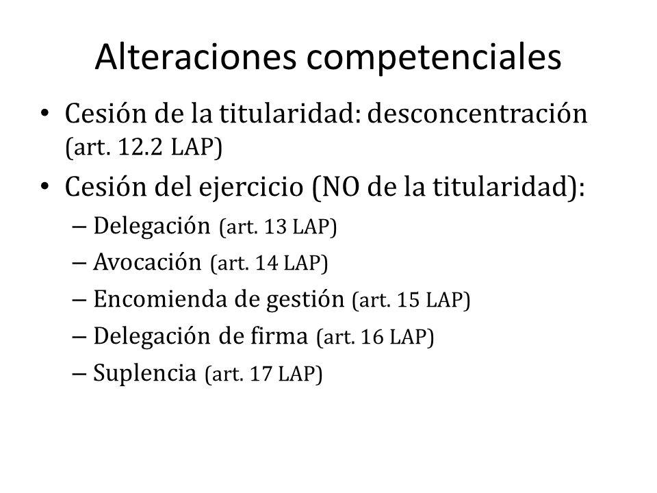 Alteraciones competenciales