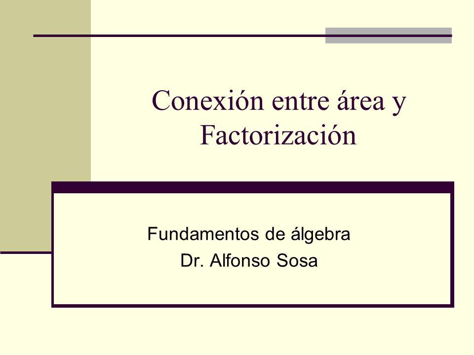 Conexión entre área y Factorización