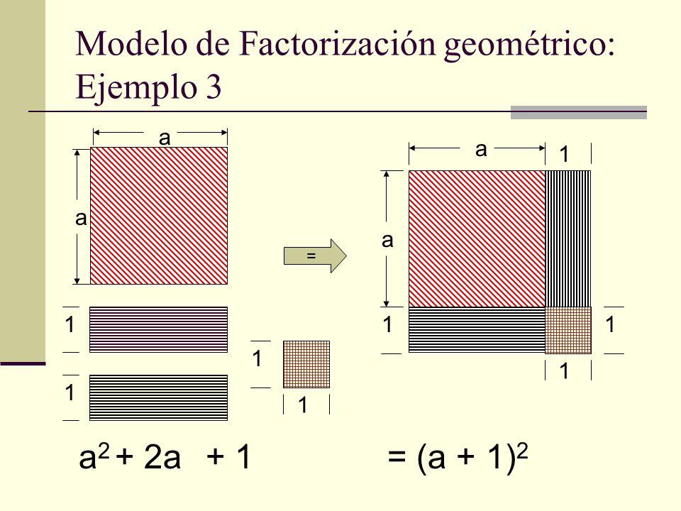 Modelo de Factorización geométrico: Ejemplo 3