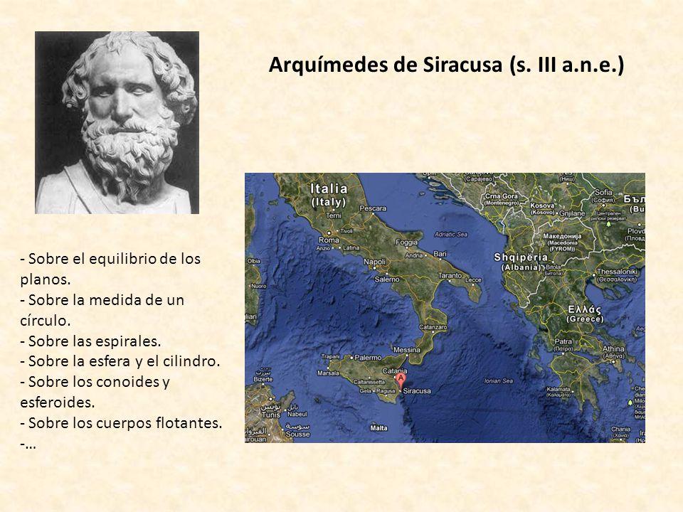 Arquímedes de Siracusa (s. III a.n.e.)
