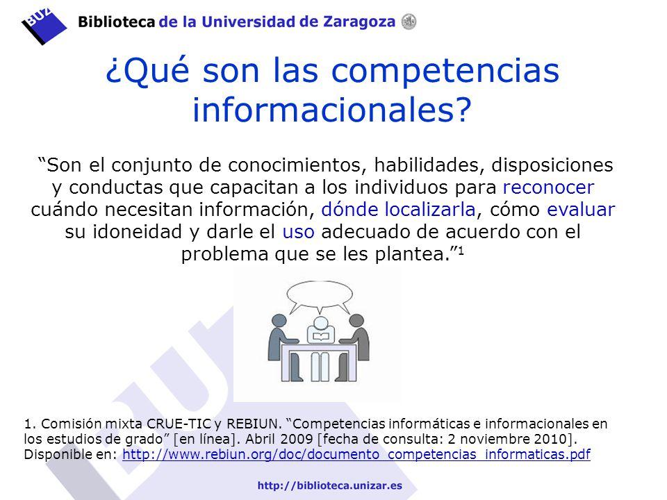 ¿Qué son las competencias informacionales