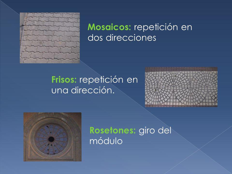 Mosaicos: repetición en dos direcciones