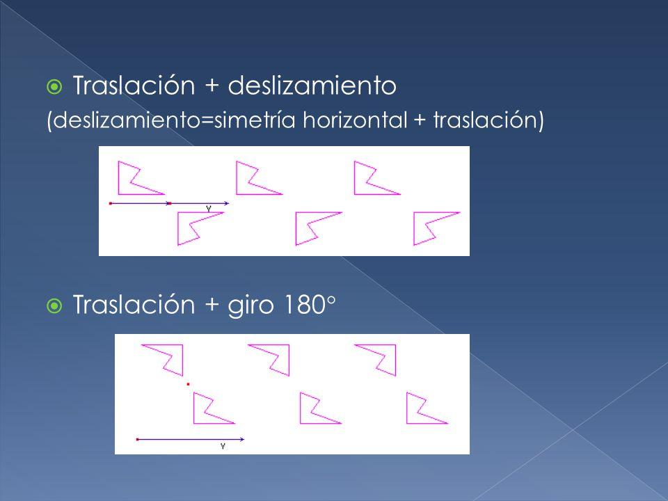 Traslación + deslizamiento