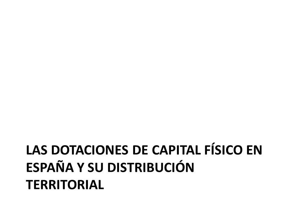 Las dotaciones de capital físico en España y su distribución territorial