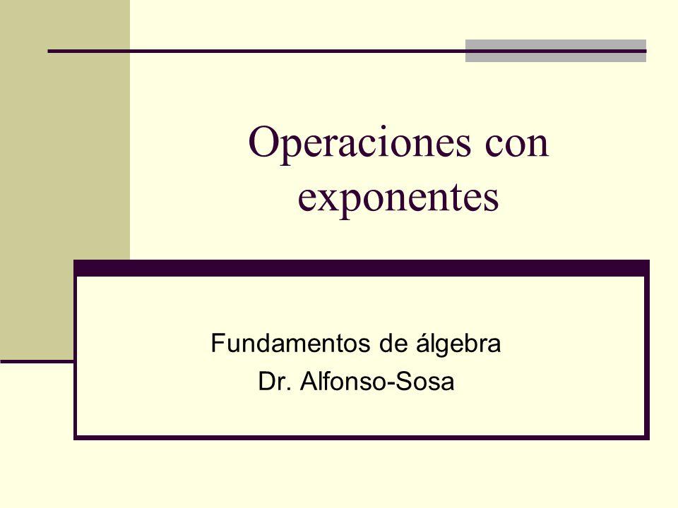 Operaciones con exponentes