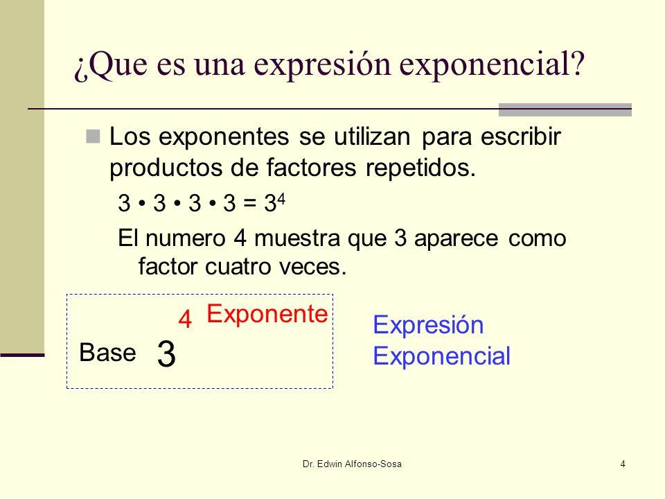 ¿Que es una expresión exponencial