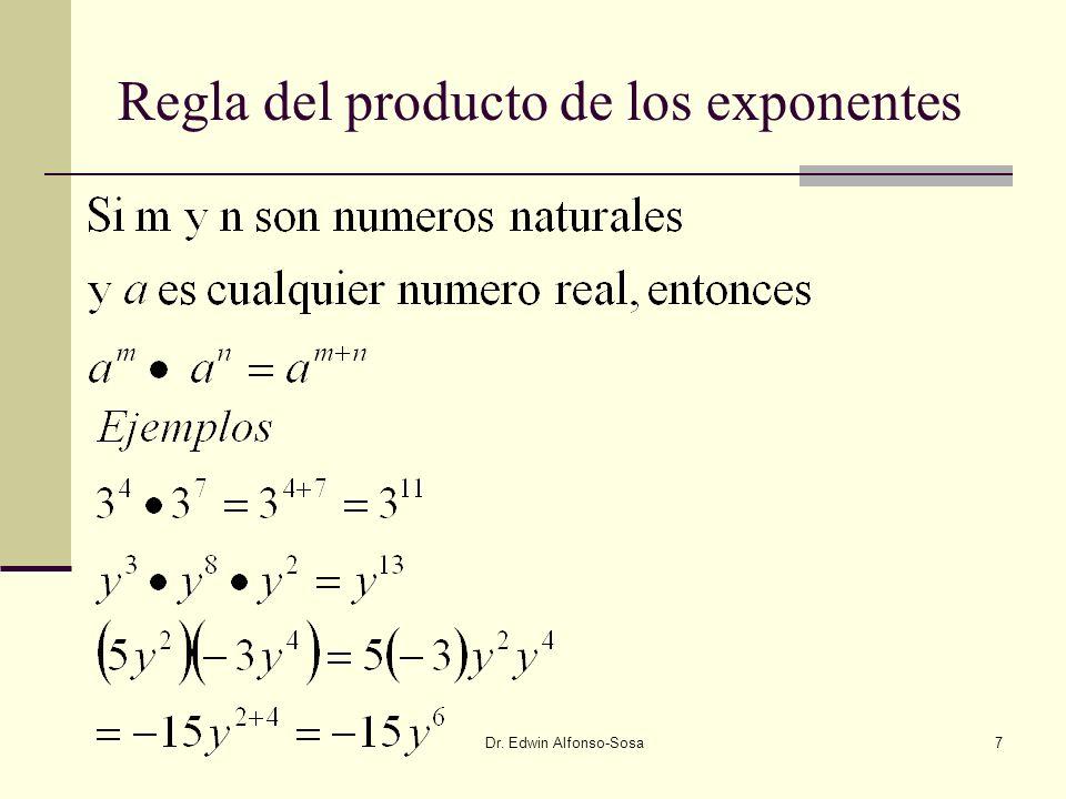 Regla del producto de los exponentes